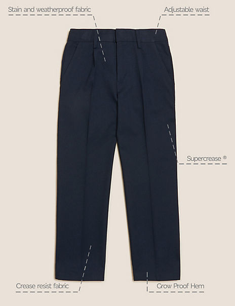 Boys' Regular Leg Additional Length Trousers