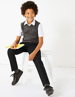 Boys' Slim Fit Skinny Leg Trousers