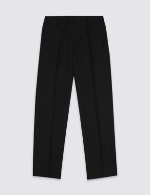 Boys' Slim Leg Longer Length School Trousers