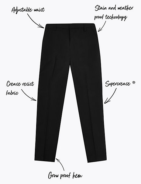 Boys' Regular Fit Slim Leg Trousers