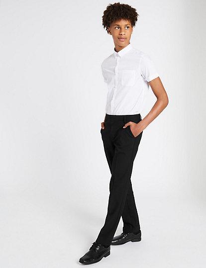 667e114da3214 Pantalon jeune homme coupe slim et longue | Pantalons | Marks and ...