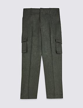Boys' Slim Leg Cargo Trousers