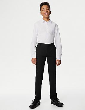 Boys' Slim Leg School Trousers (2-18 Yrs)