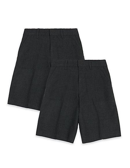 2 Pack Boys' Shorts with Stain Resistance™