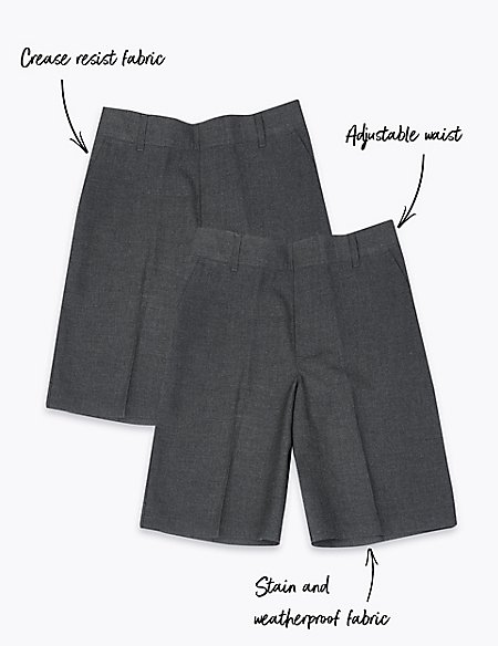 2 Pack Boys' Plus Easy Dressing Shorts