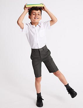 Boys' Regular Leg Pleat Front Shorts