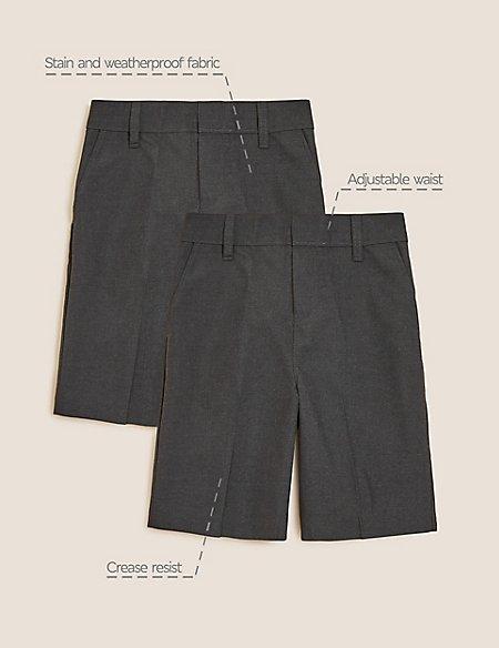 2 Pack Boys' Slim Leg Shorts