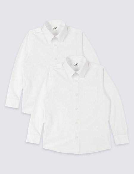 2 Pack Boys' Easy to Iron Shirts