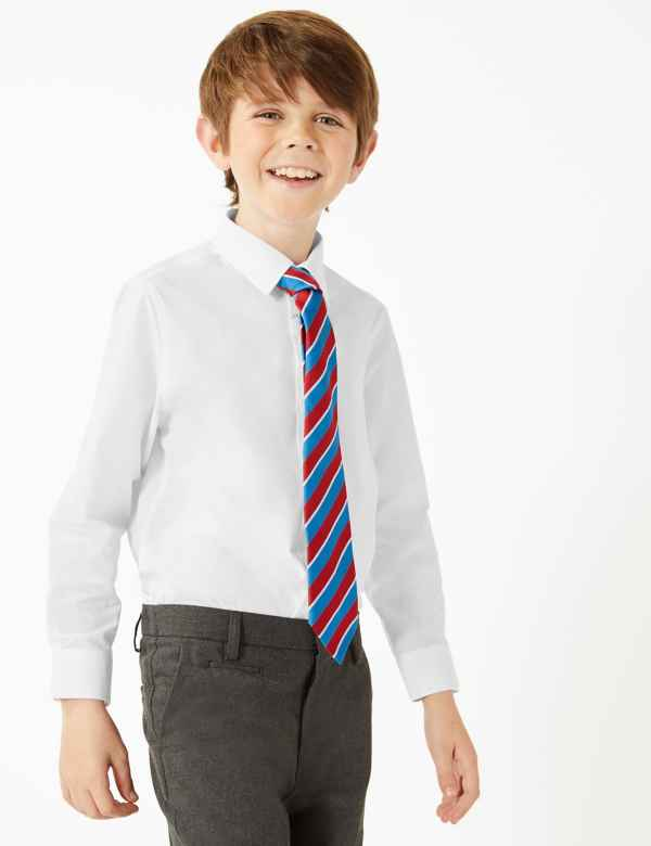 0c6934c942cdf3 3 Pack Boys' Regular Fit Easy to Iron Shirts