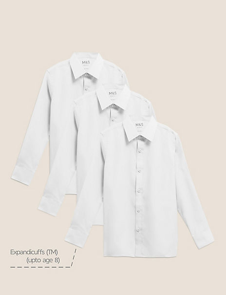 3 Pack Boys' Regular Fit Easy to Iron Shirts