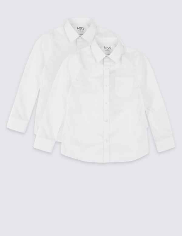 2 Pack Boys Plus Fit Non Iron Shirts