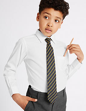2 Pack Boys' Longer Length Non-Iron Shirts