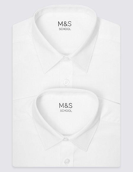 2 Pack Boys' Longer Length Non-Iron Shirts