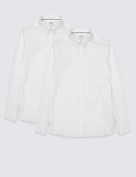 2 Pack Senior Boys' Slim Fit Shirts