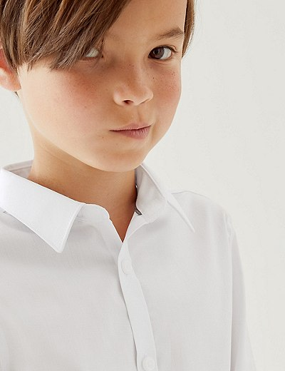 6e58b807c 2 Pack Senior Boys' Slim Fit Non-Iron Shirts | Marks & Spencer London