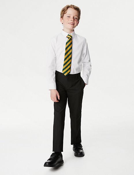 2 Pack Senior Boys' Slim Fit Easy to Iron Shirts