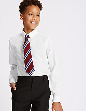 2 Pack Senior Boys' Skinny Fit Shirts