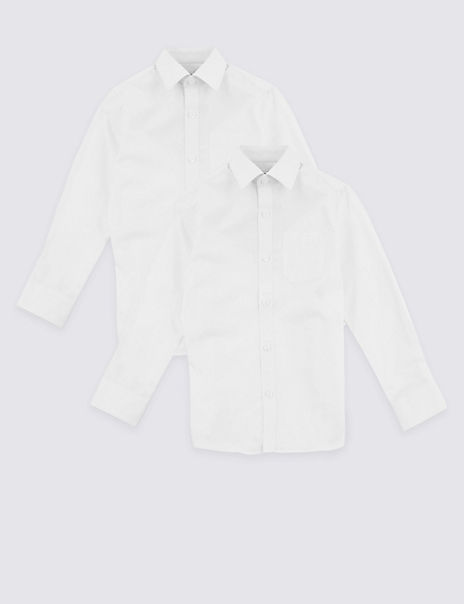 2 Pack Boys' Regular Fit Pure Cotton Shirts