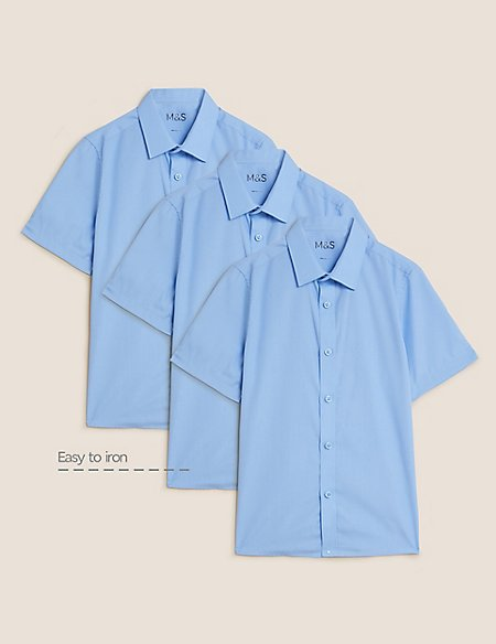 3 Pack Boys' Easy to Iron Shirts