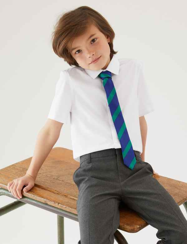 e4ec8b22d213 3 Pack Boys  Slim Fit Easy to Iron Shirts