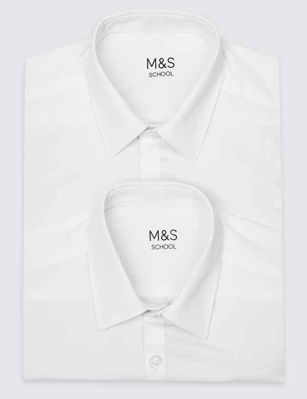 a12e072d8a4ada 2 Pack Boys  Slim Fit Non-Iron Shirts