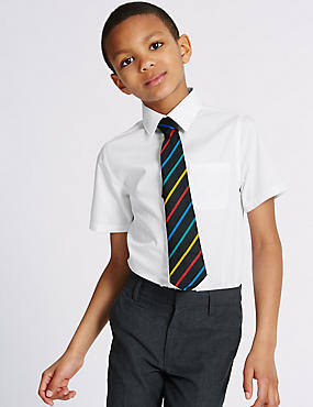 2 Pack Boys' Pure Cotton Non-Iron Shirts