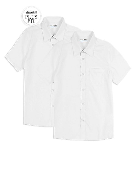 PLUS 2 Pack Boys' Ultimate Non-Iron Shirts