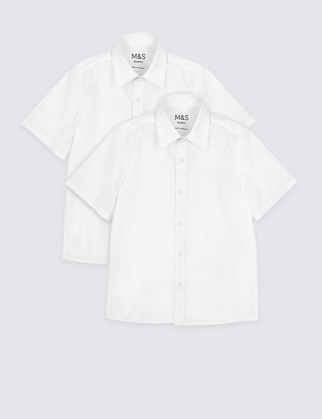 2 Pack Boys' Easy Dressing Non-Iron Shirts