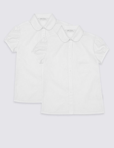 2 Pack Girls' Embroidered Blouses