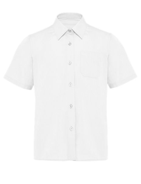 2 Pack Girls' Ultimate Non-Iron Short Sleeve Blouses with Stain Away™
