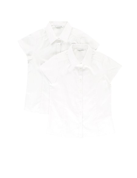 2 Pack Girls' Pure Cotton Blouses