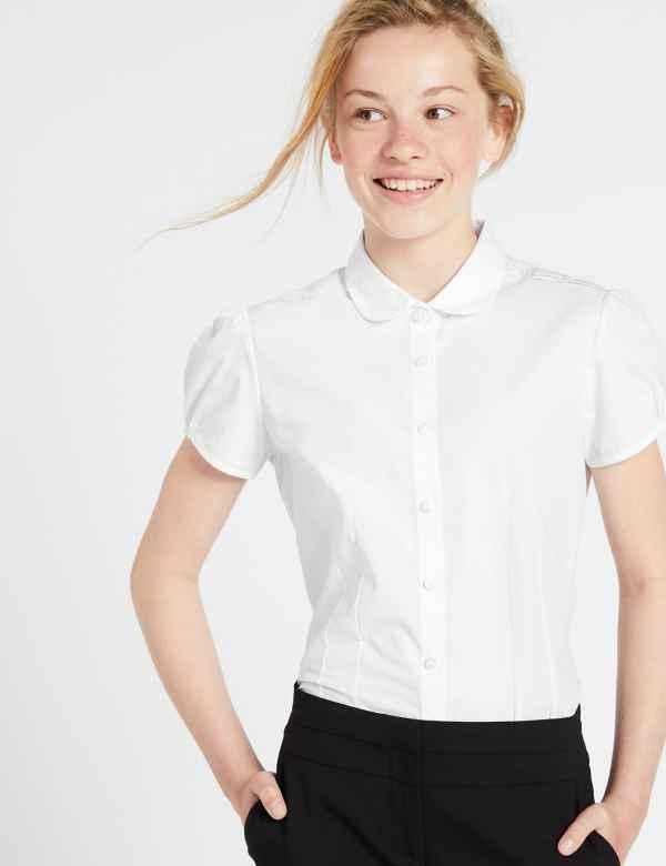4877b6672eb6 Girls' School Shirts, Blouses & Polo Shirts | M&S