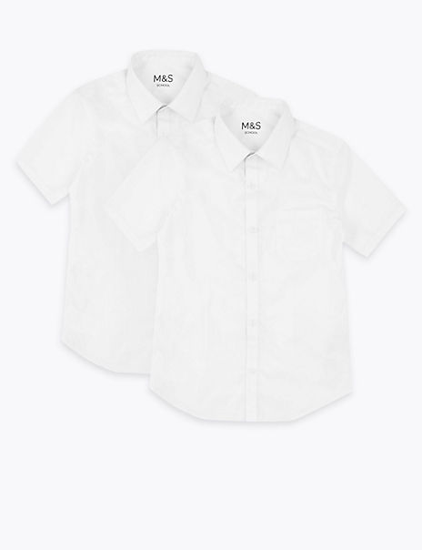2 Pack Girls' Pure Cotton Regular Fit Blouses