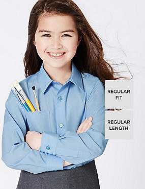 2 Pack Girls' Ultimate Non-Iron Blouses