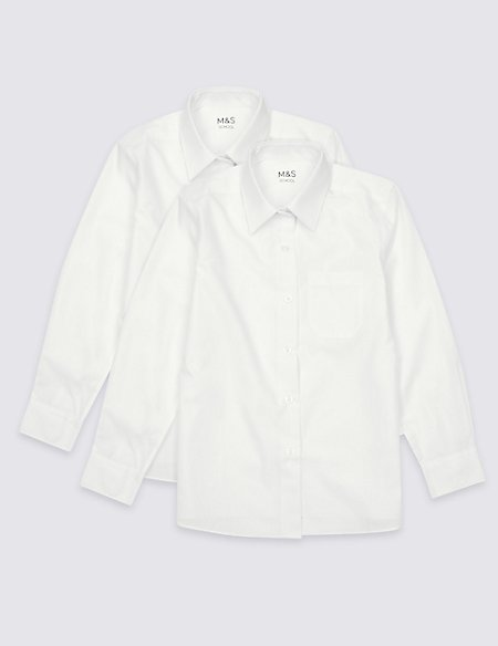 2 Pack Girls' Easy Dressing Blouses