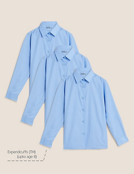 3 Pack Girls' Easy to Iron Blouses
