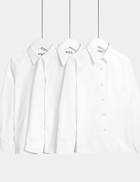 Lot de 3chemises filles, repassage facile, idéales pour l'école (du 2 au 16ans)