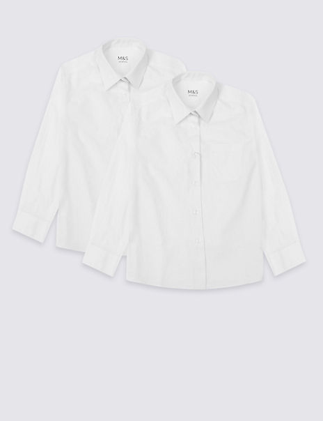 2 Pack Girls' Regular Fit Pure Cotton Blouses