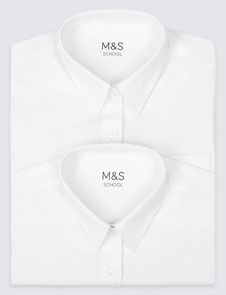 2 Pack Girls' Pure Cotton Slim Fit Blouses