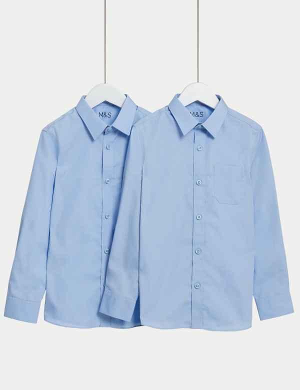 f1af9f688b5a6 Girls' School Shirts, Blouses & Polo Shirts | M&S