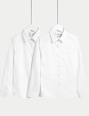 Lot de 2chemises filles 100% coton, idéales pour l'école (du 2 au 18ans)
