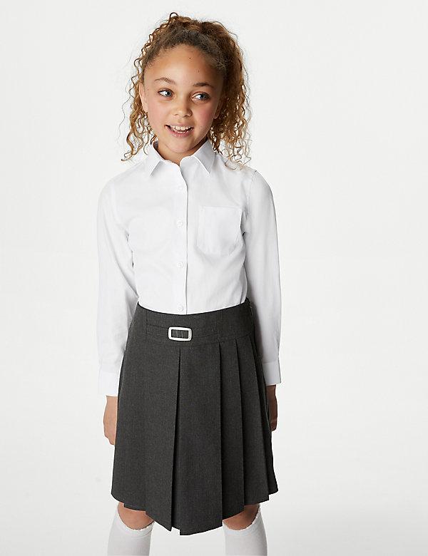 1 Blouse exM/&S Girls PURE COTTON 100/% Short Long Sleeve School Shirt Skin Kind