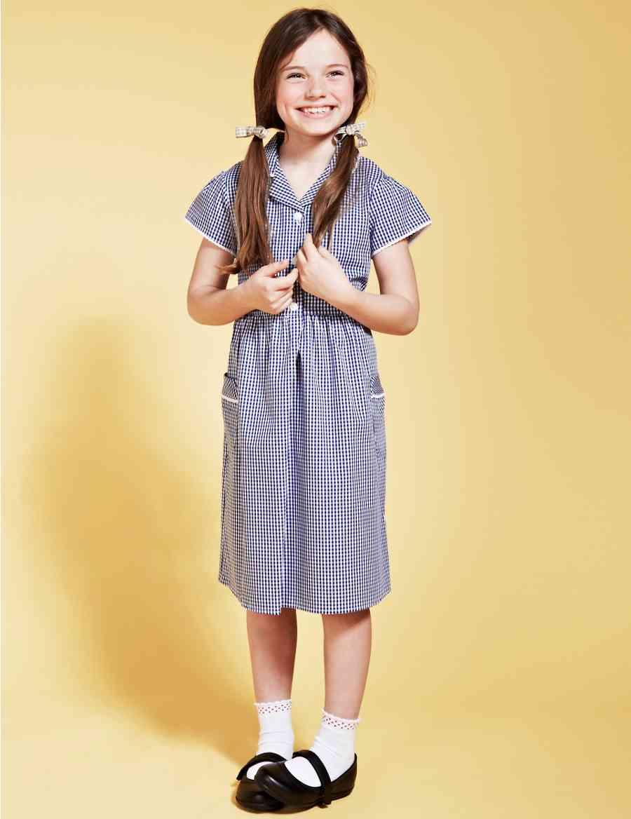 c3c0232977 Girls  Pure Cotton Easy to Iron Gingham School Dress