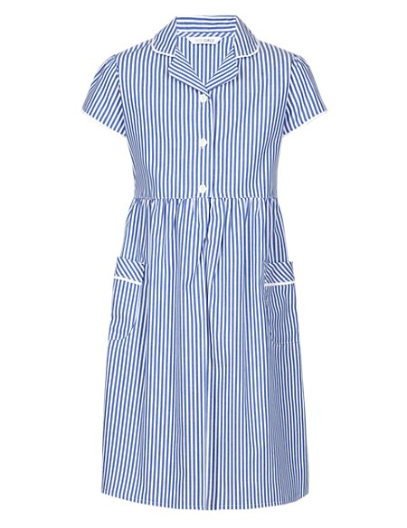 Pure Cotton Easy to Iron Striped Dress