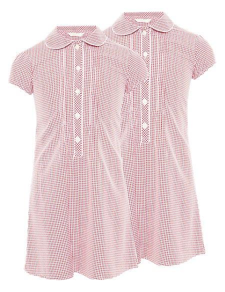 2 Pack Pintuck School Dresses