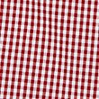 Girls' Plus Fit Gingham Pure Cotton Dress, RED, swatch