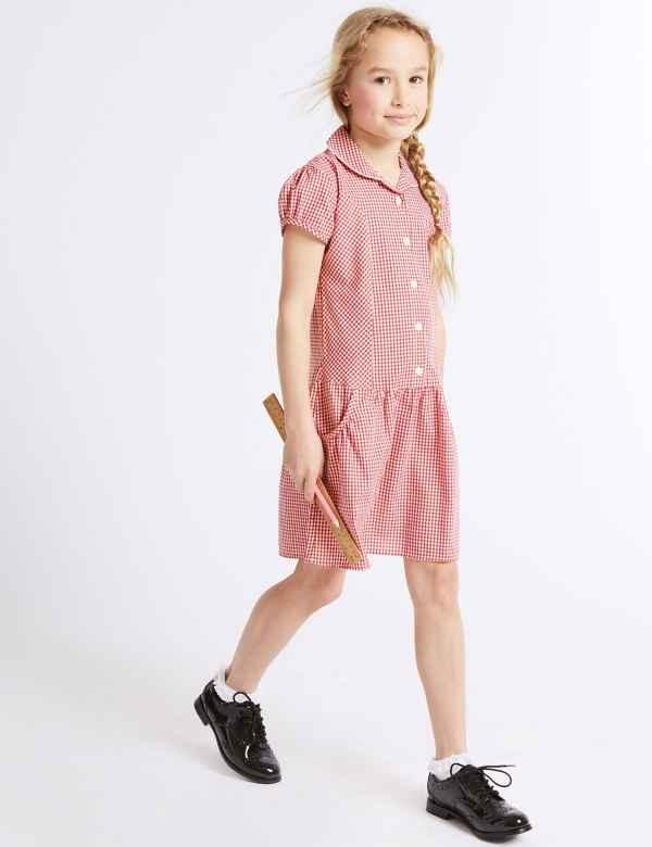 3724334edc6 Girls  2 Pack Gingham Dress