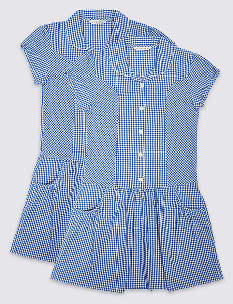 2 Pack Girls' Gingham Dress