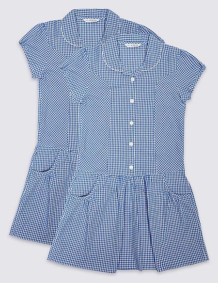 Girls' 2 Pack Gingham Dress