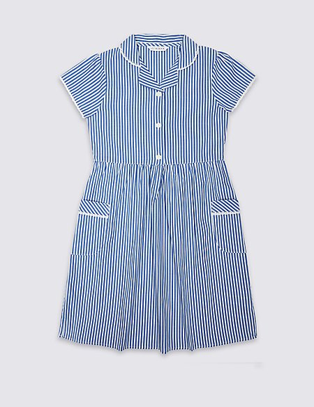Girls\' Pure Cotton Striped Dress   M&S
